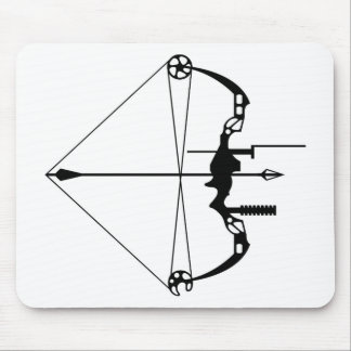 Modern Hunting Bow and Arrow Mouse Pad