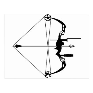 Modern Hunting Bow and Arrow Postcard