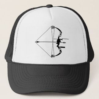 Modern Hunting Bow and Arrow Trucker Hat