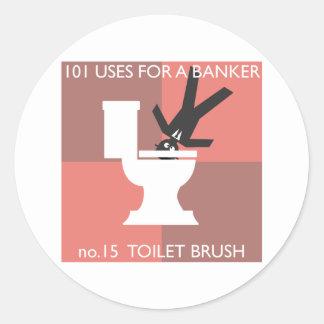 modern hygiene explained classic round sticker