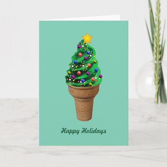Modern Ice Cream Christmas Tree Greetings Card | Zazzle.com