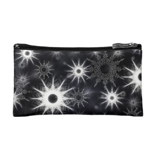 Modern Ice Crystals Small Cosmetic Bag