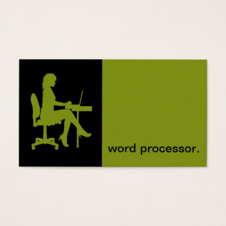 Modern Icon Silhouette legal word processor Business Card