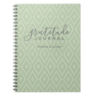 Modern Ikat Pattern Gratitude Journal CHOOSE COLOR