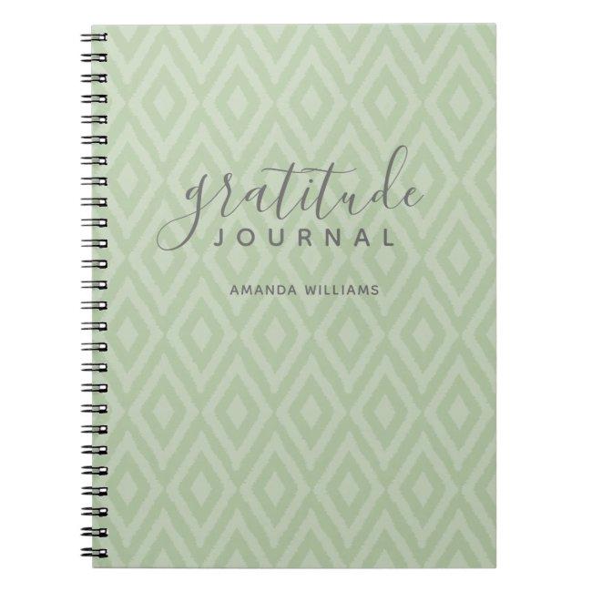 Modern Ikat Pattern Gratitude Journal CHOOSE COLOR