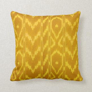 Modern Ikat Tribal Chevron   deep yellow canary Throw Pillow