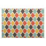 Modern ikat tribal fashion pattern cloth placemat