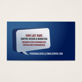 Modern Impact Business Card Dark Blue
