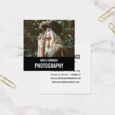 Modern Impression   Photographer Square Business Card at Zazzle