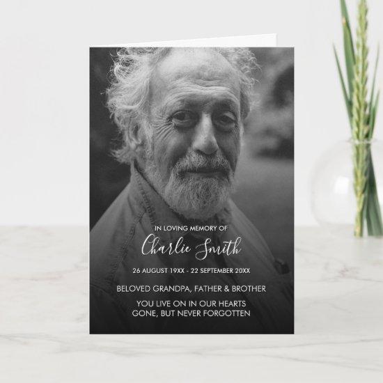 Modern In Loving Memory Folded Funeral Program