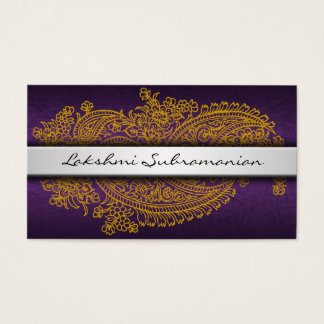 Modern India Paisley Business Cards