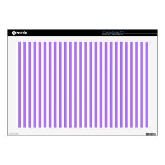 "Modern indigo stripes pattern skins for 17"" laptops"
