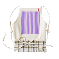 Modern indigo stripes pattern zazzle HEART apron