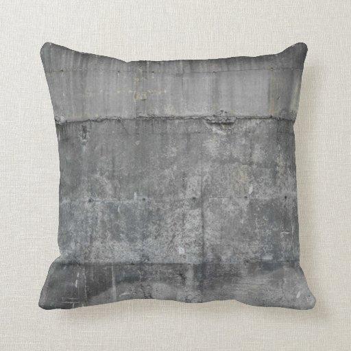 modern industrial concrete loft pillow 2  Zazzle