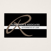 Modern Initial Attorney Professional Business Card