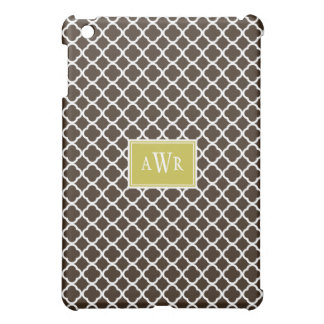 Modern Initials (Green/Brown) Case For The iPad Mini
