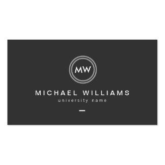 Modern Initials II Graduate Student Business Card
