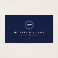 Modern Initials Iii Graduate Student Business Card at Zazzle