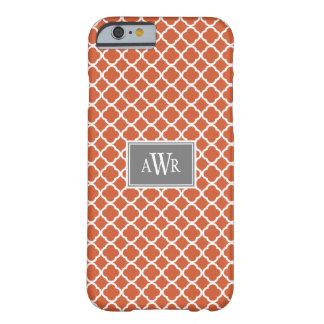 Modern Initials iPhone 6 case (Gray/Orange)
