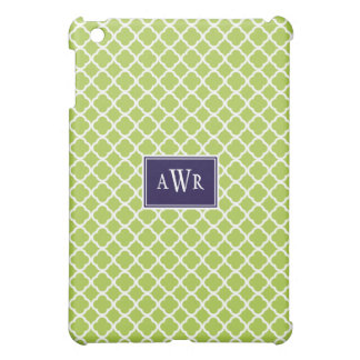 Modern Initials (Navy/Green) Cover For The iPad Mini