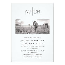 Modern Initials | Photo Wedding Invitation