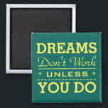 """Modern Inspirational Typography Quote Magnet<br><div class=""""desc"""">Get inspired or inspire others.</div>"""