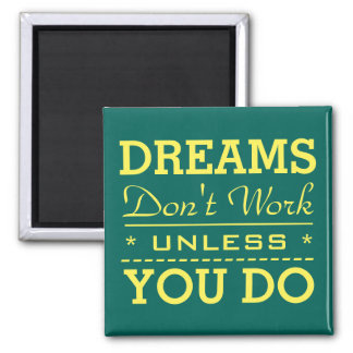 Modern Inspirational Typography Quote Magnet