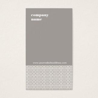Modern Interior Design Taupe Gray Pattern Business Card