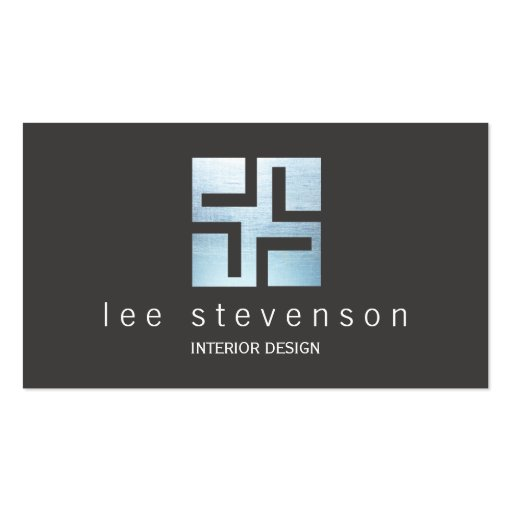 Modern Interior Designer Metallic Geometric Logo Business
