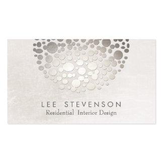 Modern Interior Designer Monochromatic Neutral Business Card Template