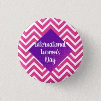 Modern International Women's Day Custom Size Button