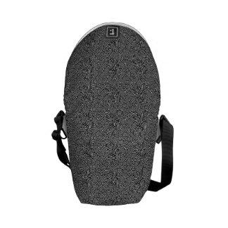 Modern Intricate Optical Pattern Messenger Bag