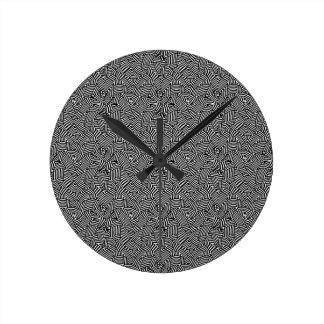 Modern Intricate Optical Pattern Round Clock