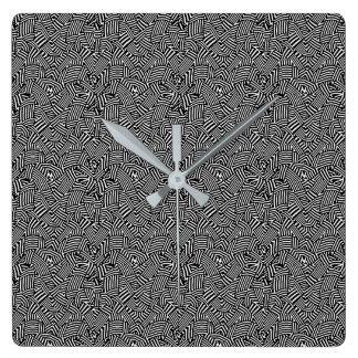 Modern Intricate Optical Pattern Square Wall Clock