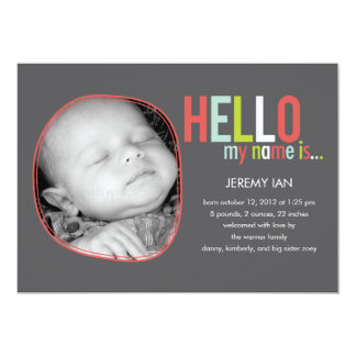 Modern Introduction Baby Birth Announcement
