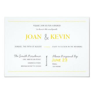 "Modern Invitation Suite Brunch Card 3.5"" X 5"" Invitation Card"
