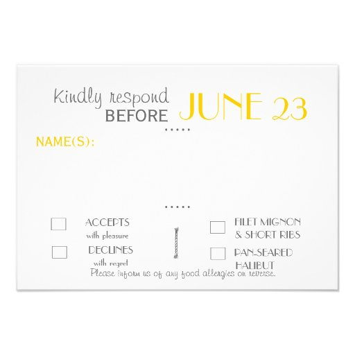 Modern Invitation Suite Response Card