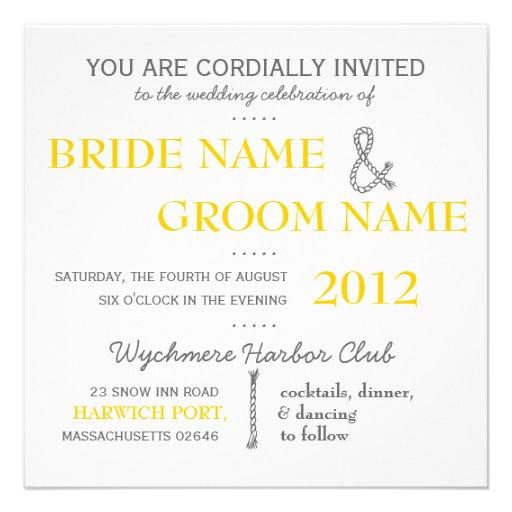 Modern Invitation Suite Wedding Invite