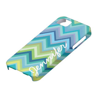 Modern Iphone 5 Chevron Pattern Case with name