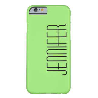 Modern iPhone 6 Case, Green, Personalized Barely There iPhone 6 Case