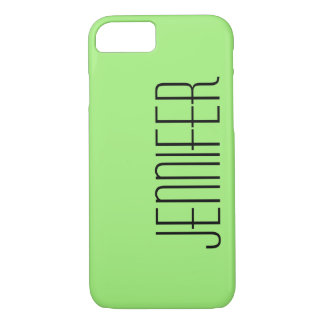 Modern iPhone 7 Case, Green, Personalized iPhone 7 Case