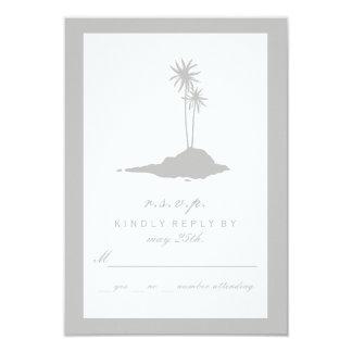 Modern Island Beach Wedding RSVP - Gray Card