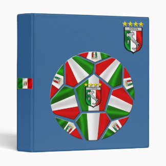 Modern Italian Soccer ball panels artwork gifts 3 Ring Binder