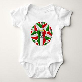 Modern Italian Soccer ball panels artwork gifts Baby Bodysuit