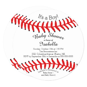 Modern baby shower invitations announcements zazzle modern its a boy baseball baby shower invitations filmwisefo
