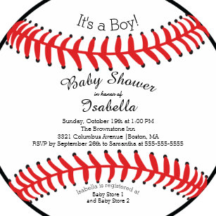 Modern baby shower invitations announcements zazzle modern its a boy baseball baby shower invitations filmwisefo Images