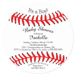 "Modern It's A Boy Baseball Baby Shower Invitations 5.25"" Square Invitation Card"