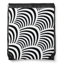 Modern Jazz Age Elegant Black and White 1920s Drawstring Bag