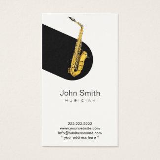 Modern Jazz Saxophone Musician Profile Card