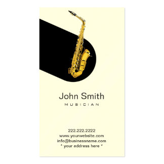 Modern Jazz Saxophone Musician Profile Card Double-Sided Standard Business Cards (Pack Of 100)